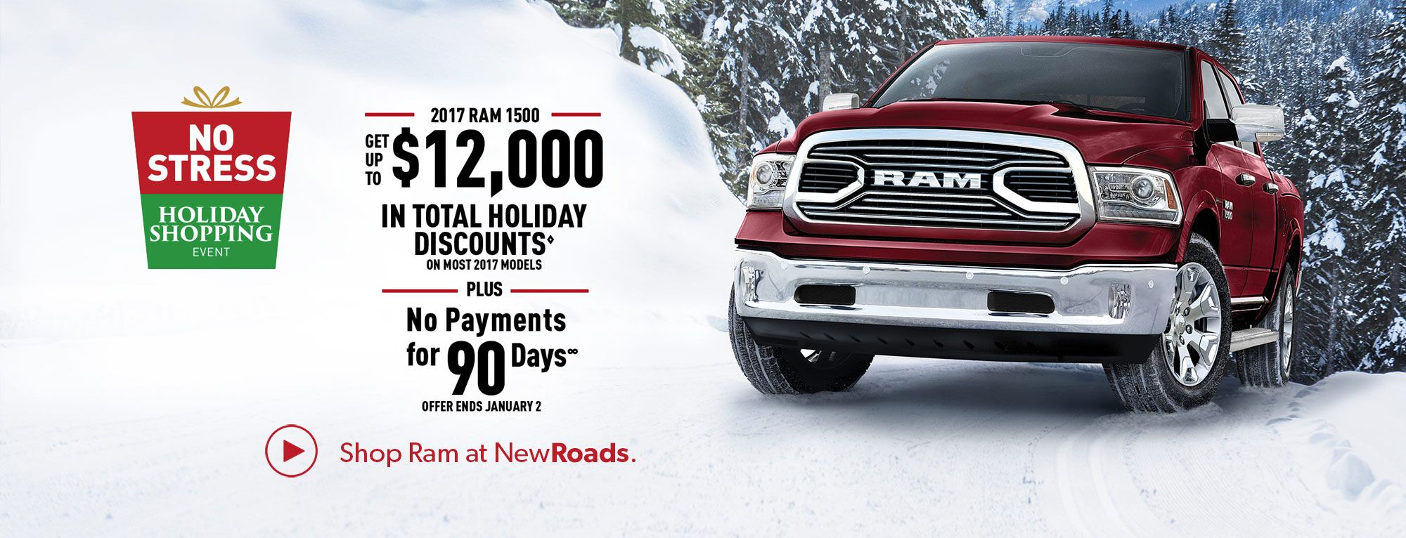 Ram Truck Holiday Shopping in Newmarket