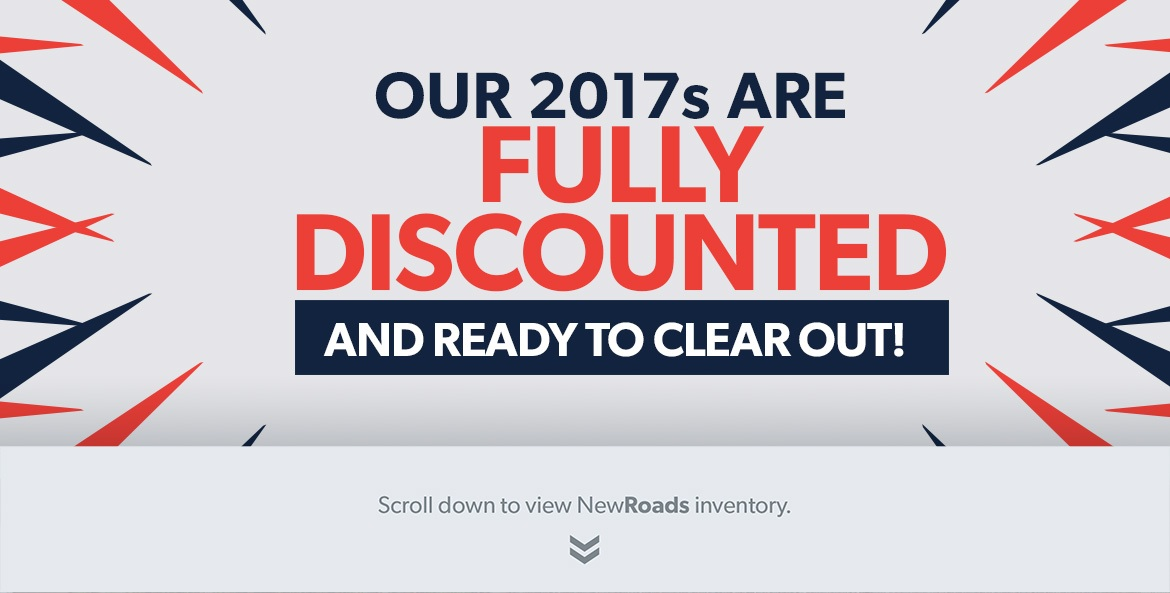 2017 model clearout discounts in Newmarket